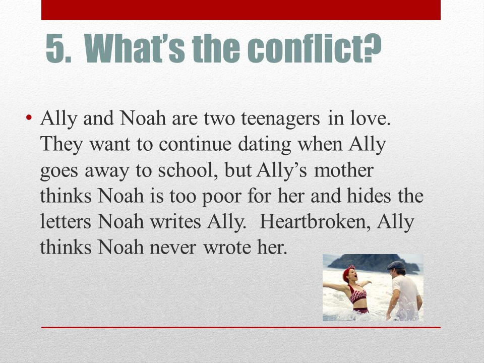 5. What's the conflict