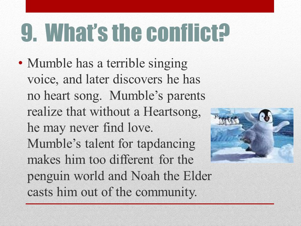 9. What's the conflict