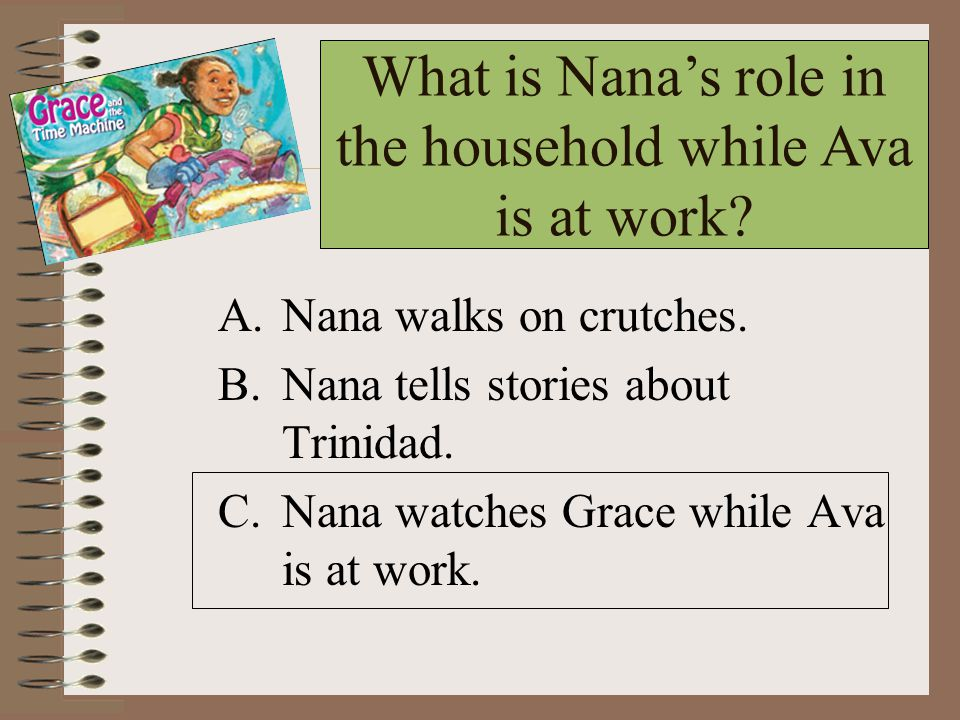 What is Nana's role in the household while Ava is at work