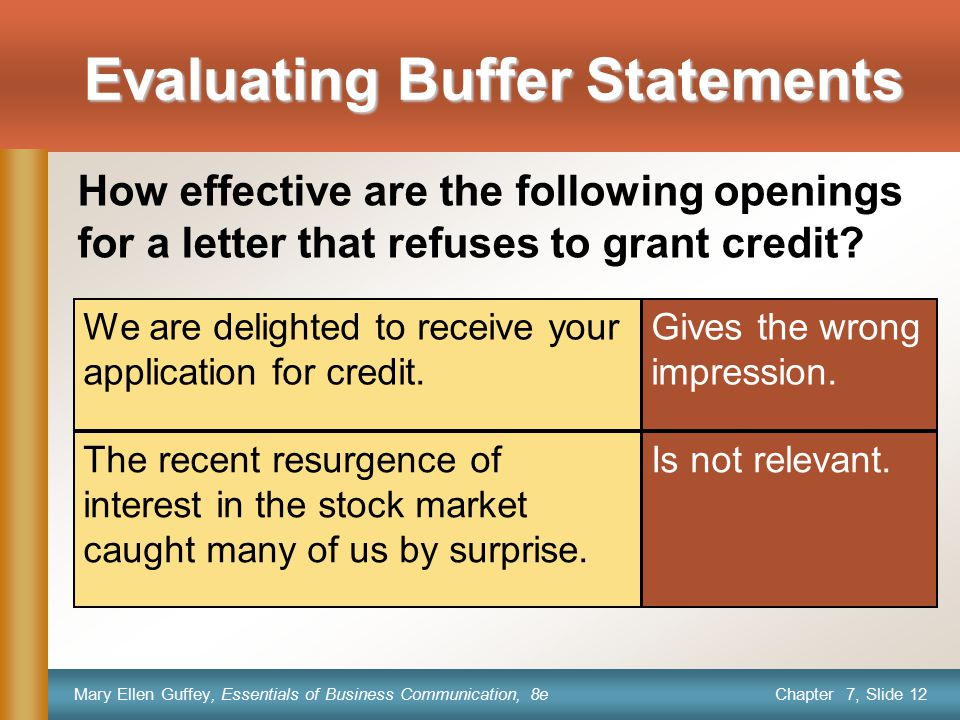 Evaluating Buffer Statements