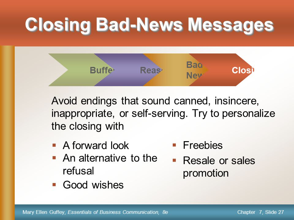 Closing Bad-News Messages