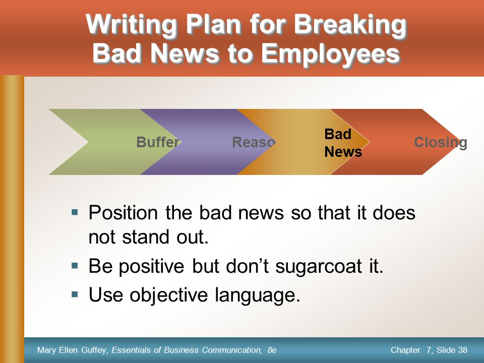 Writing Plan for Breaking Bad News to Employees