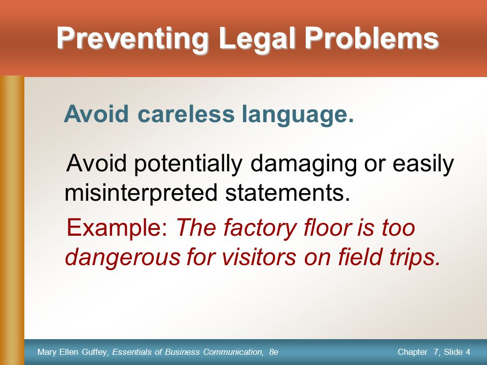 Preventing Legal Problems