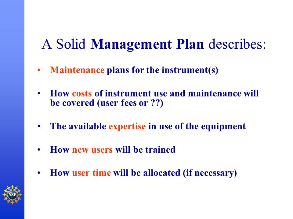 A Solid Management Plan describes: