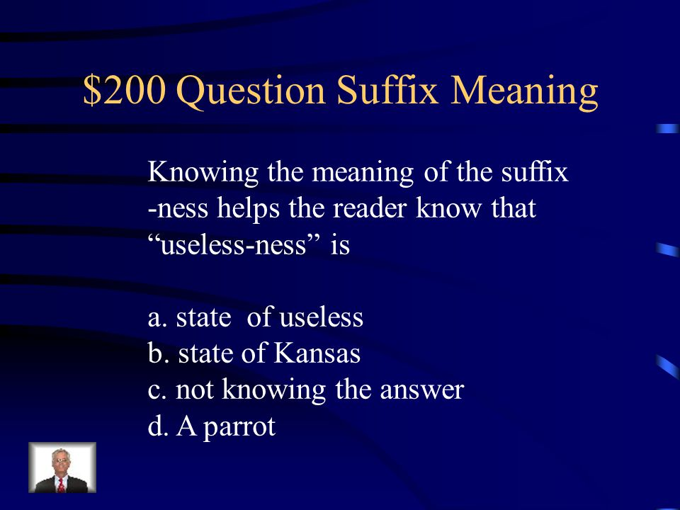 $200 Question Suffix Meaning