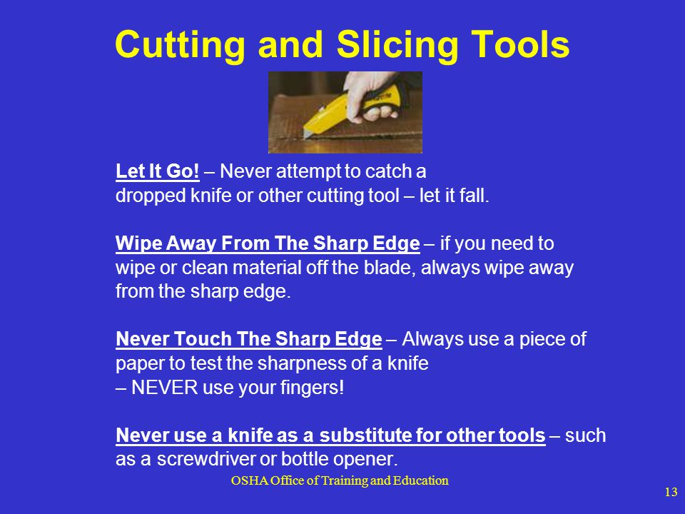 Cutting and Slicing Tools