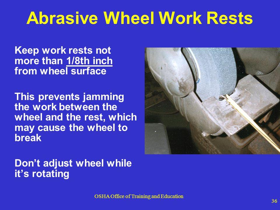 Abrasive Wheel Work Rests