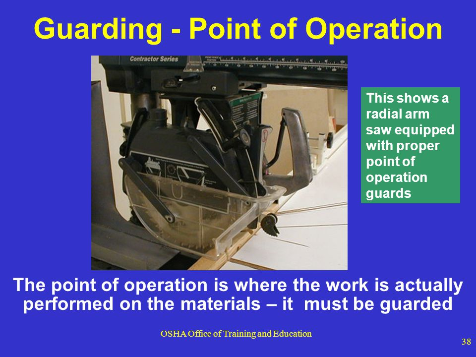 Guarding - Point of Operation