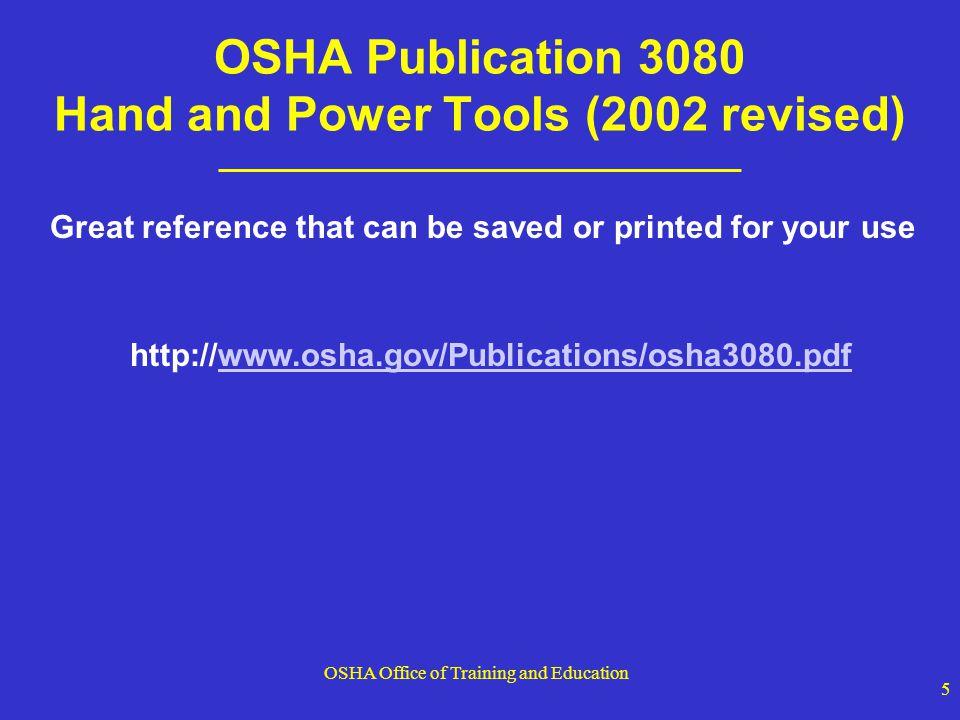 OSHA Office of Training and Education