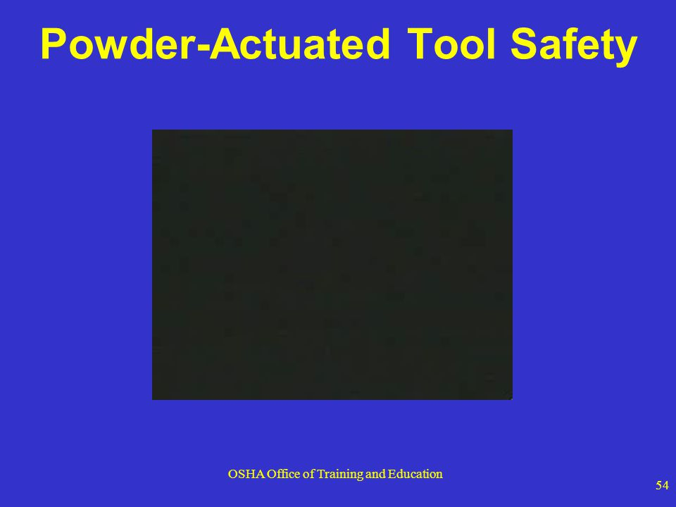 Powder-Actuated Tool Safety