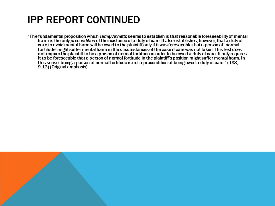 Ipp Report Continued
