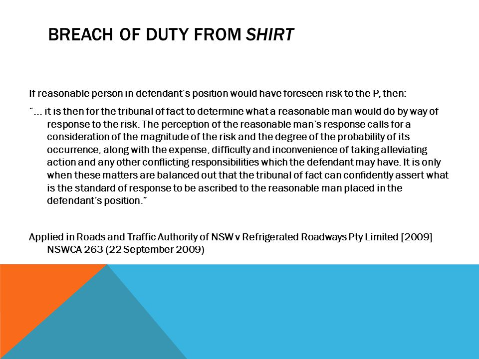 Breach of Duty from Shirt