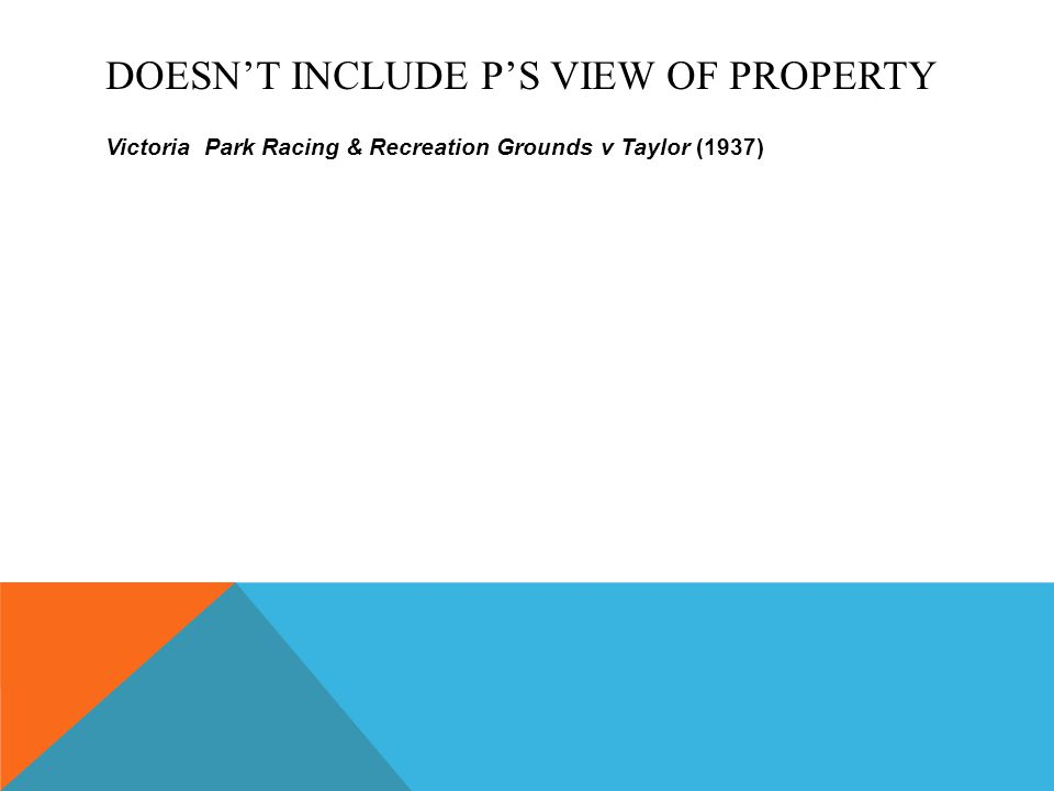 Doesn't include P's view of property
