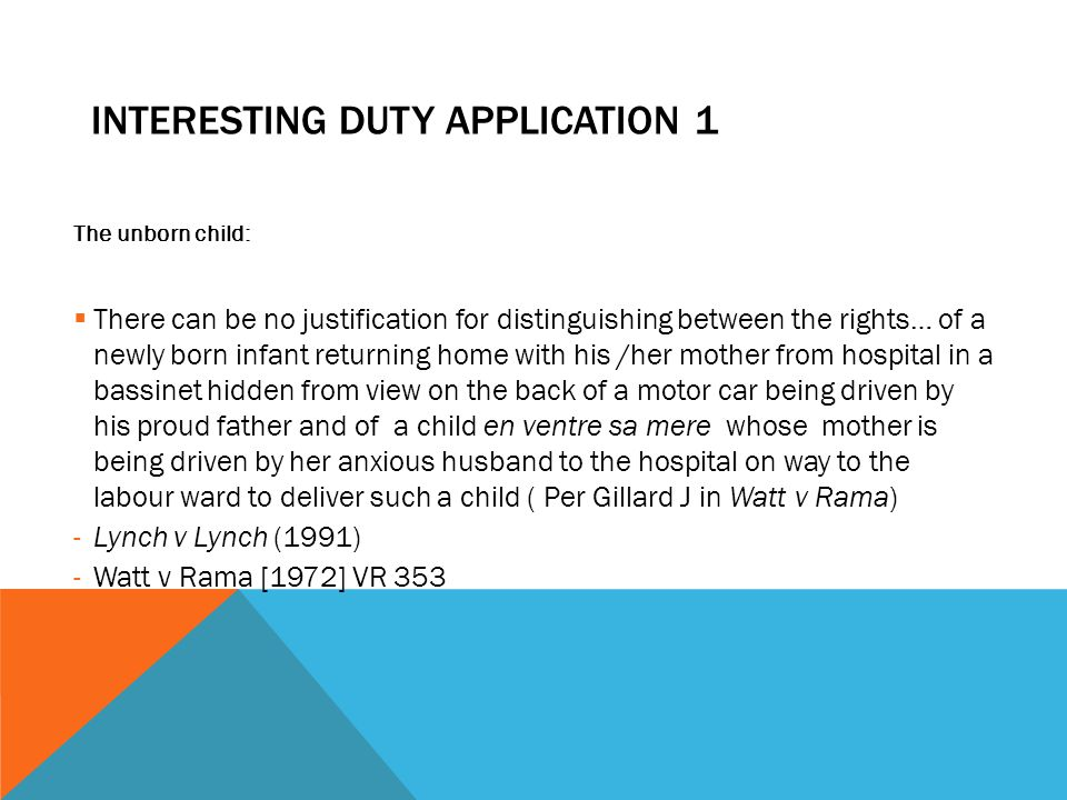 Interesting Duty Application 1