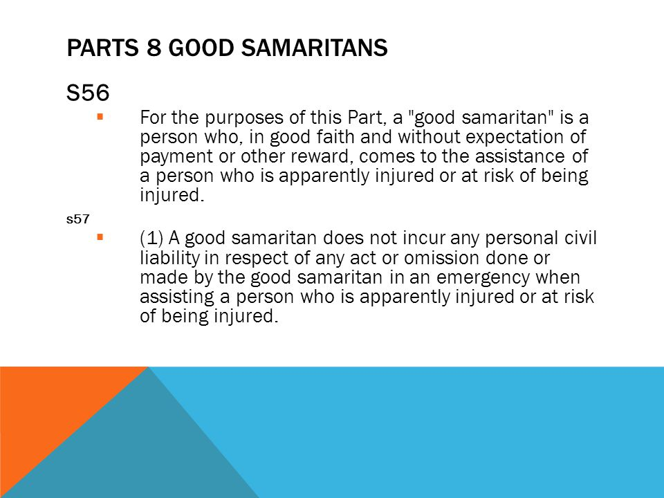 Parts 8 Good Samaritans S56