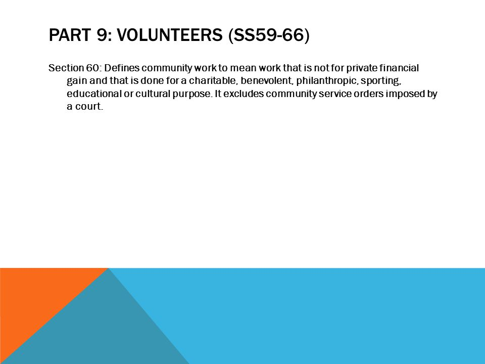 Part 9: Volunteers (ss59-66)