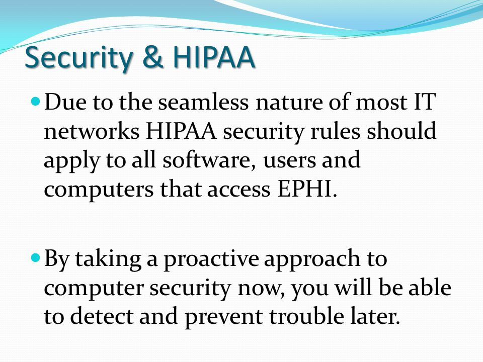 Security & HIPAA