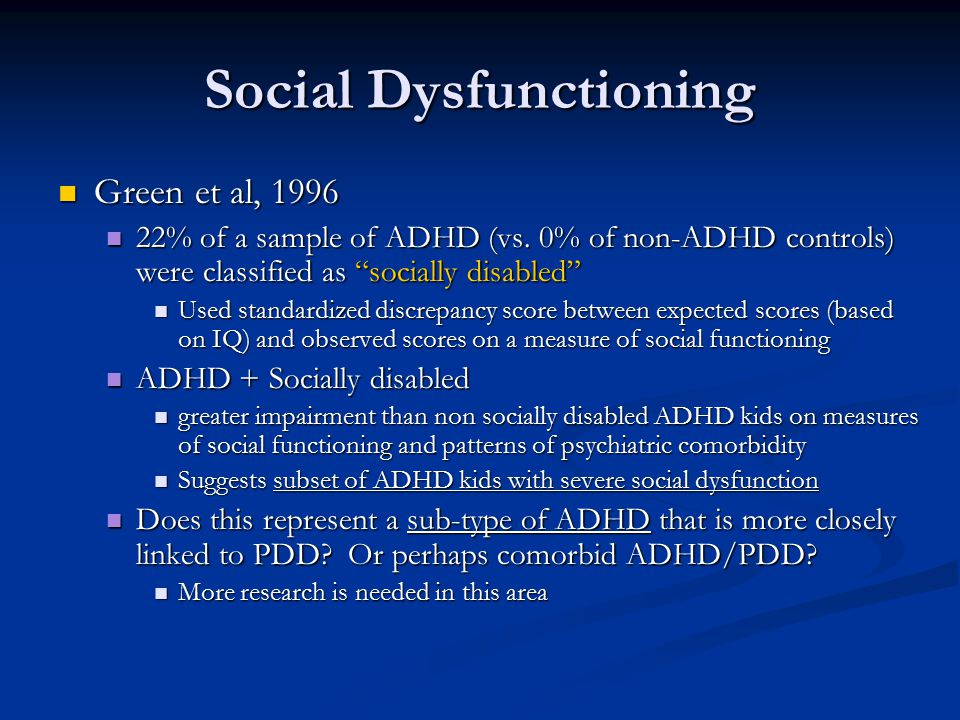 Social Dysfunctioning
