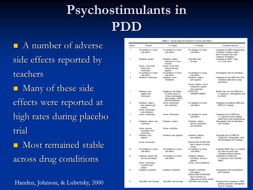 Psychostimulants in PDD