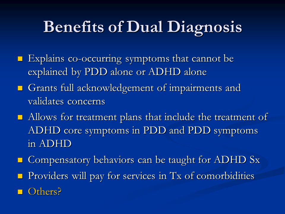 Benefits of Dual Diagnosis