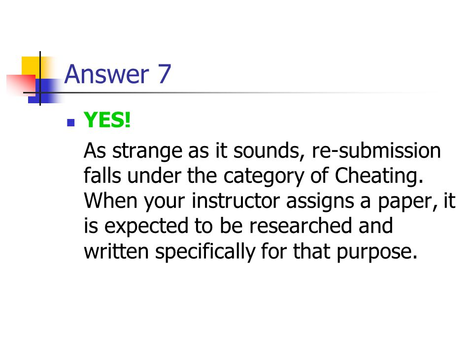 Answer 7 YES!