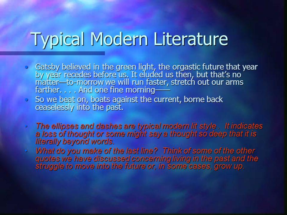Typical Modern Literature
