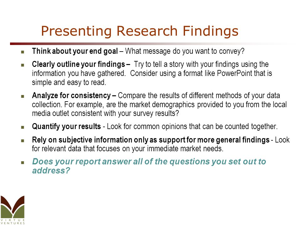 presenting findings in a research paper In addition to the articles on this current page, see the following blogs which have posts related to analyzing research results scan down the blog's page to see various posts also see the section recent blog posts in the sidebar of the blog or click on next near the bottom of a post in the.