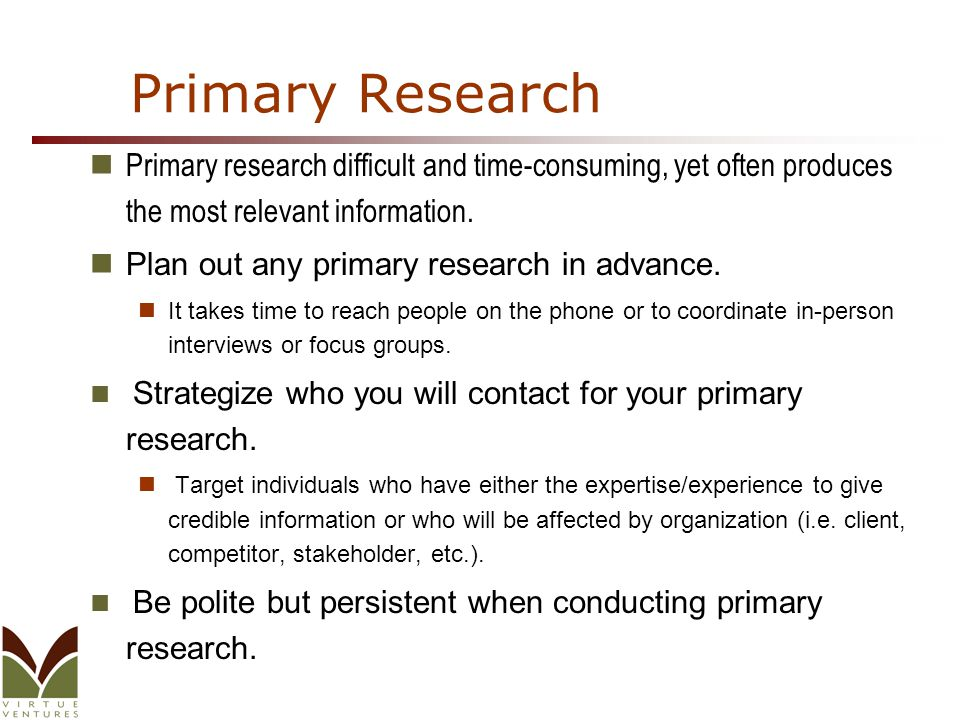 Find jobs for Primary Research Analyst