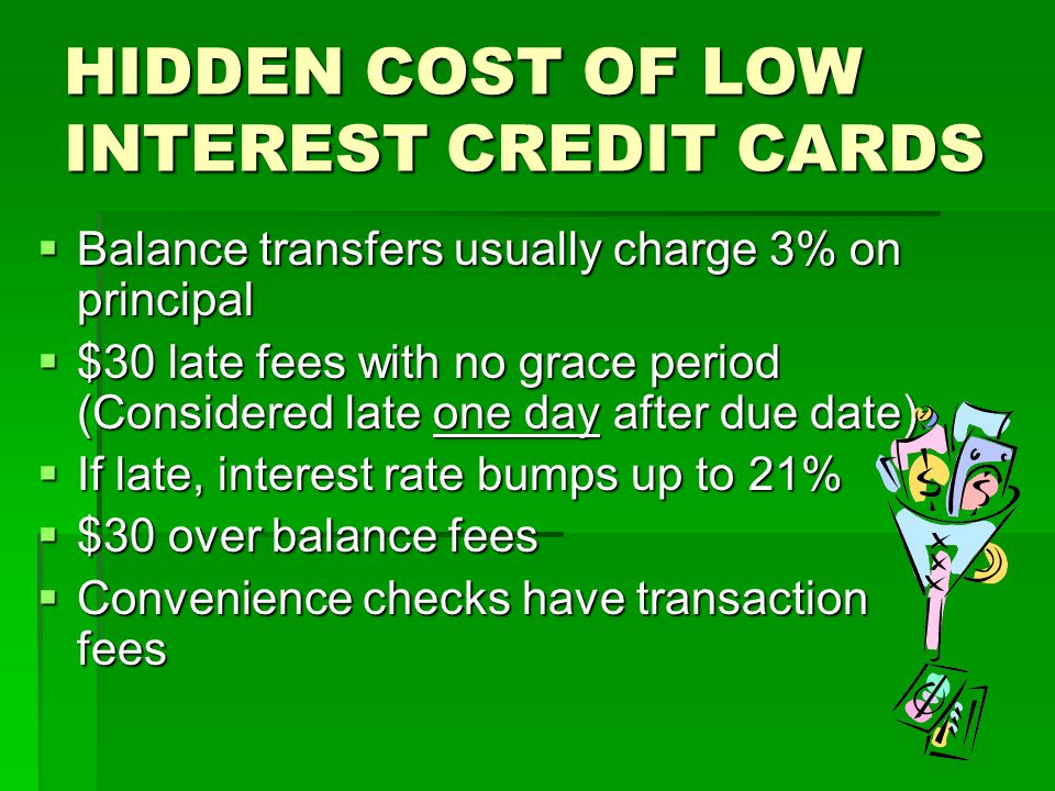 HIDDEN COST OF LOW INTEREST CREDIT CARDS
