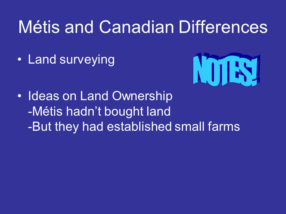 Métis and Canadian Differences