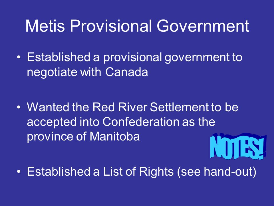Metis Provisional Government