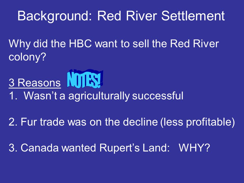 Background: Red River Settlement