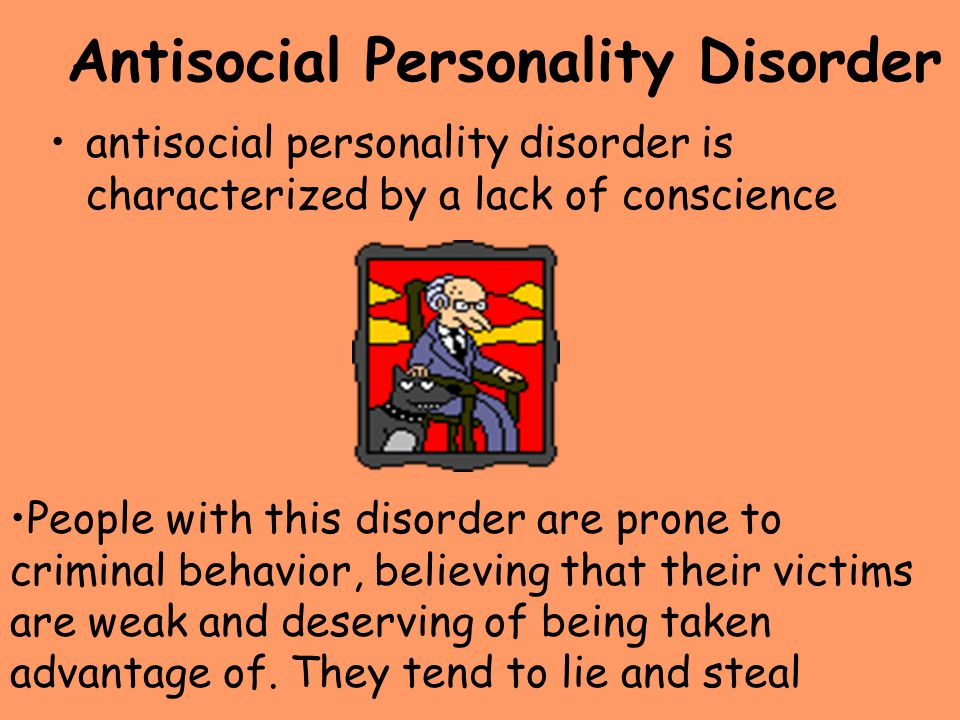 personality disorders and criminal behaviro Antisocial personality factors for male subjects at high risk for criminal behavior function and suicidal behavior in personality disorders.