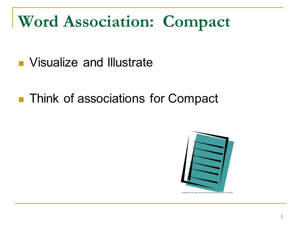 Word Association: Compact