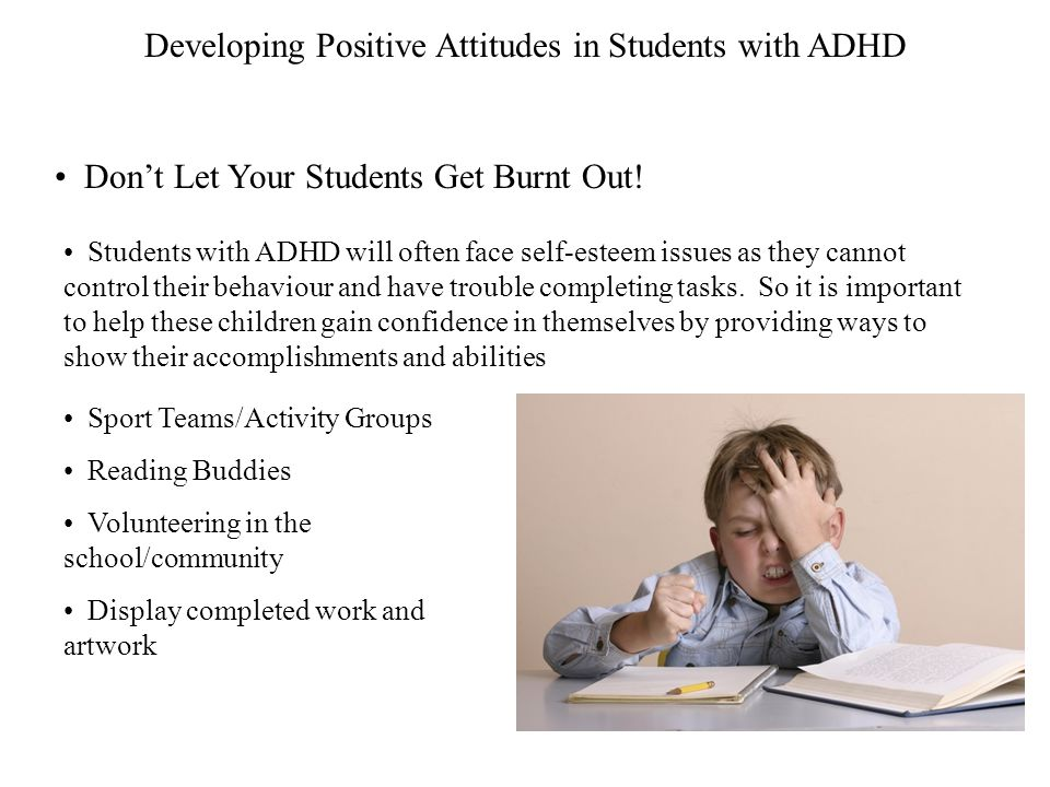 Developing Positive Attitudes in Students with ADHD