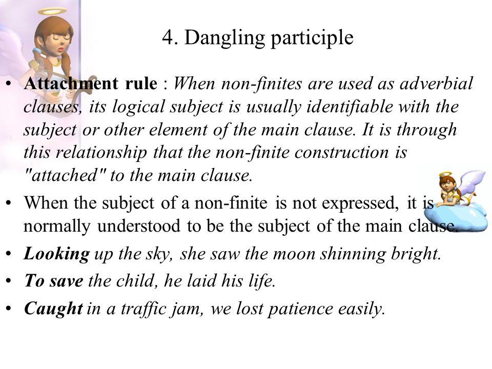 4. Dangling participle
