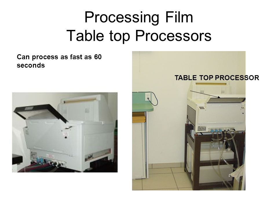 Processing Film Table top Processors