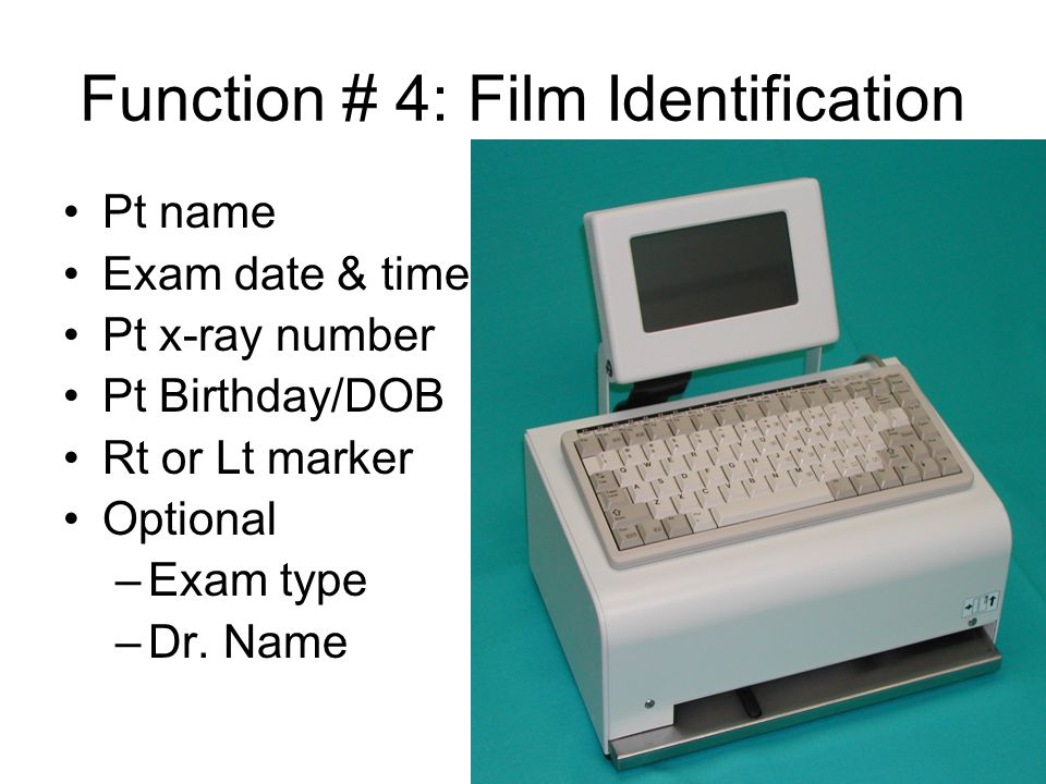 Function # 4: Film Identification