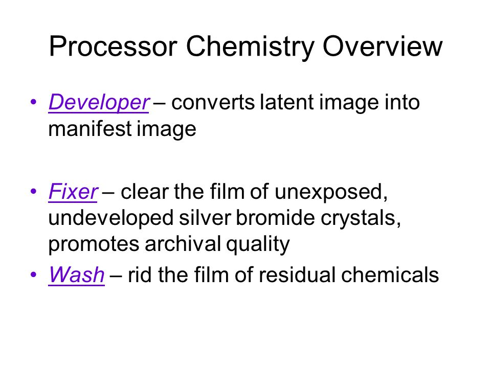 Processor Chemistry Overview