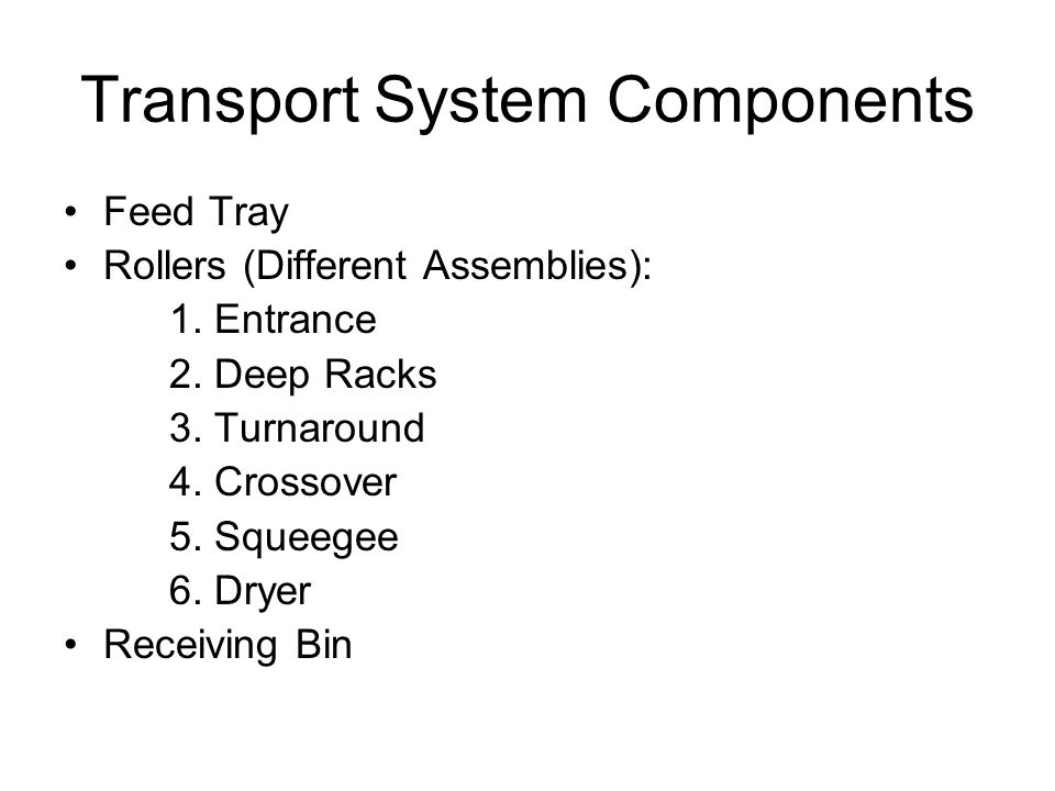 Transport System Components
