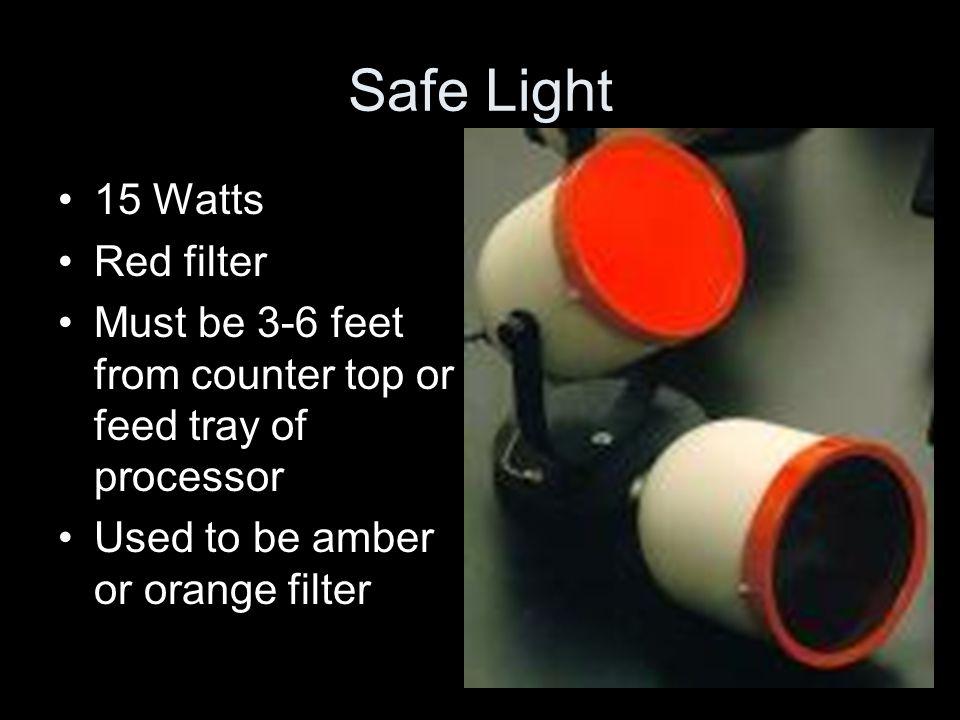 Safe Light 15 Watts Red filter