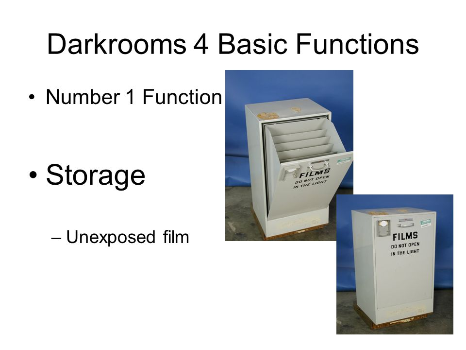 Darkrooms 4 Basic Functions