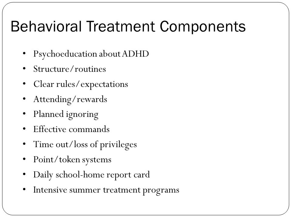 Behavioral Treatment Components