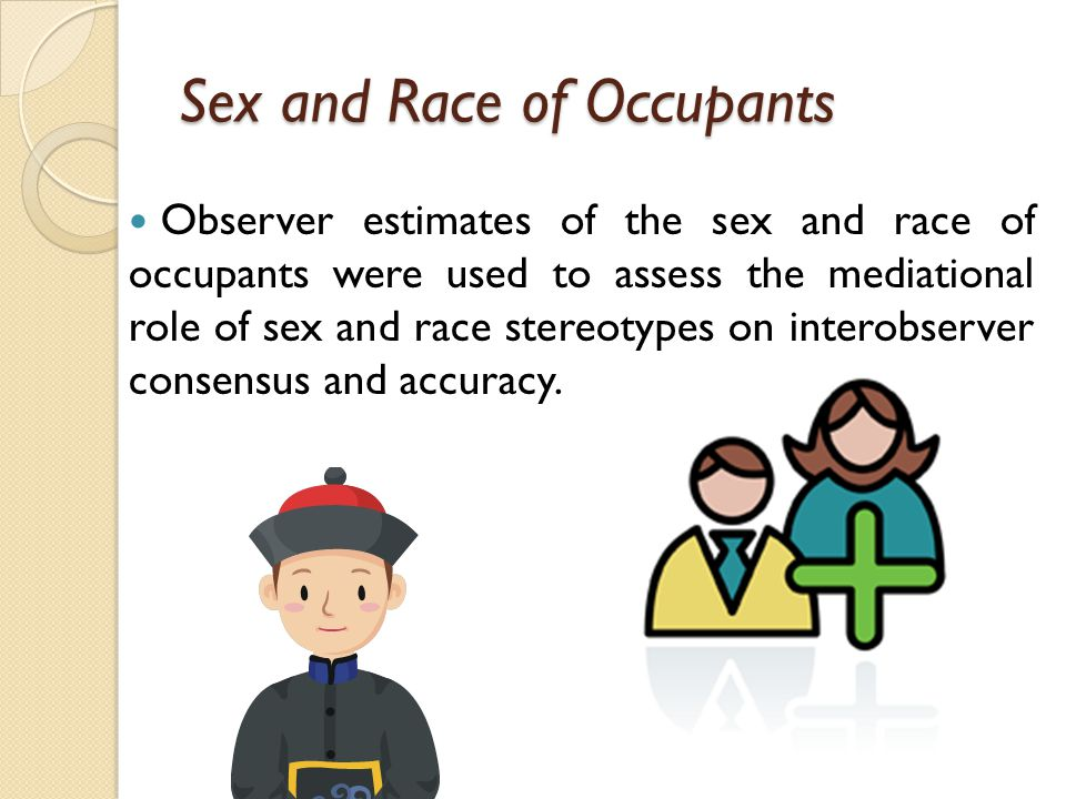 Sex and Race of Occupants