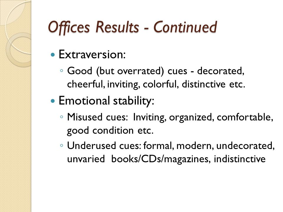 Offices Results - Continued