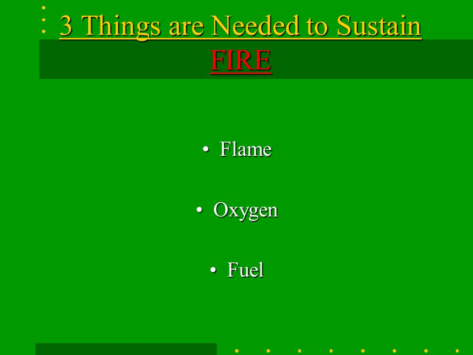 3 Things are Needed to Sustain FIRE