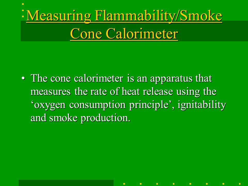 Measuring Flammability/Smoke Cone Calorimeter