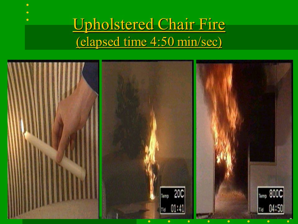 Upholstered Chair Fire (elapsed time 4:50 min/sec)