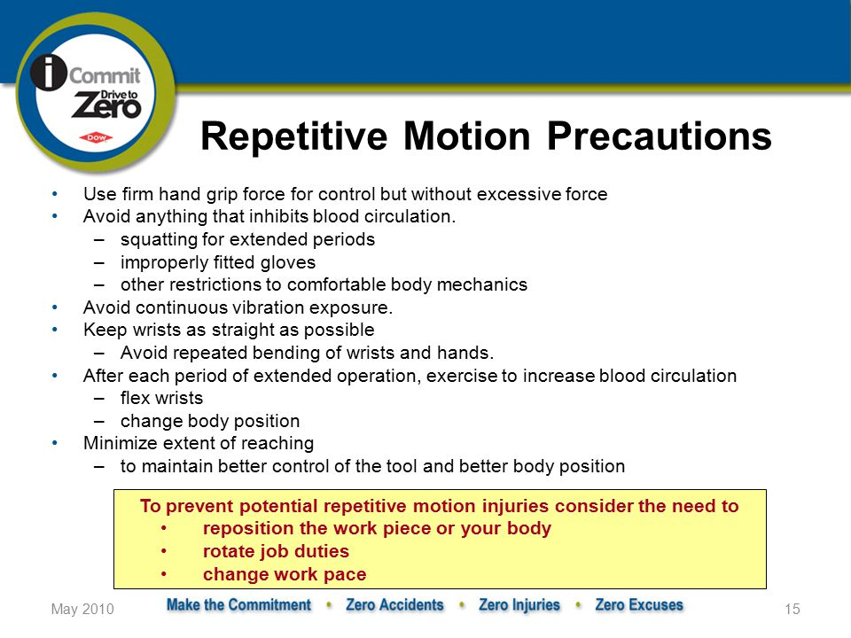 Repetitive Motion Precautions