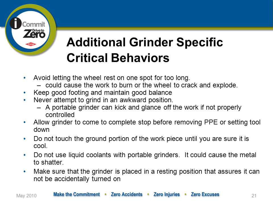 Additional Grinder Specific Critical Behaviors
